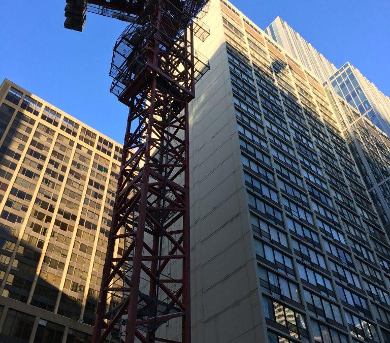 Ontario Street Tower Crane Makes its Smashing Debut